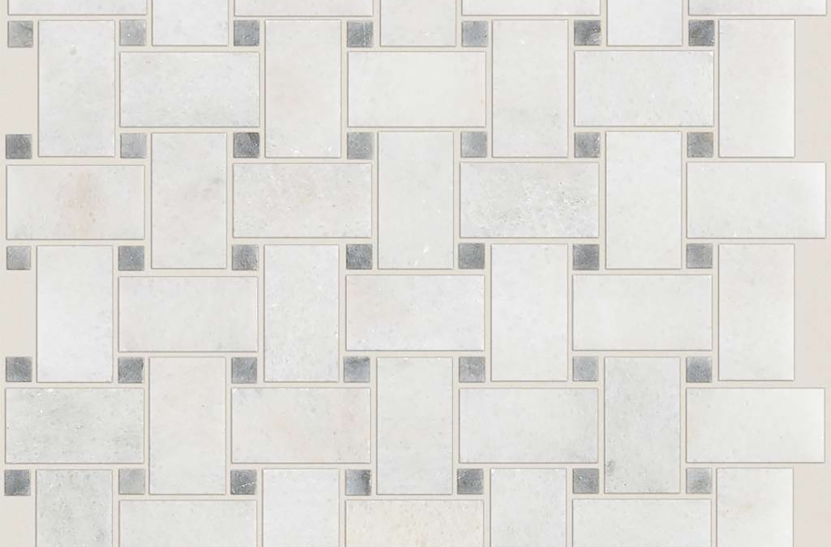 Shaw Boca Natural Stone Mosaic - Basketweave - Channel Polished
