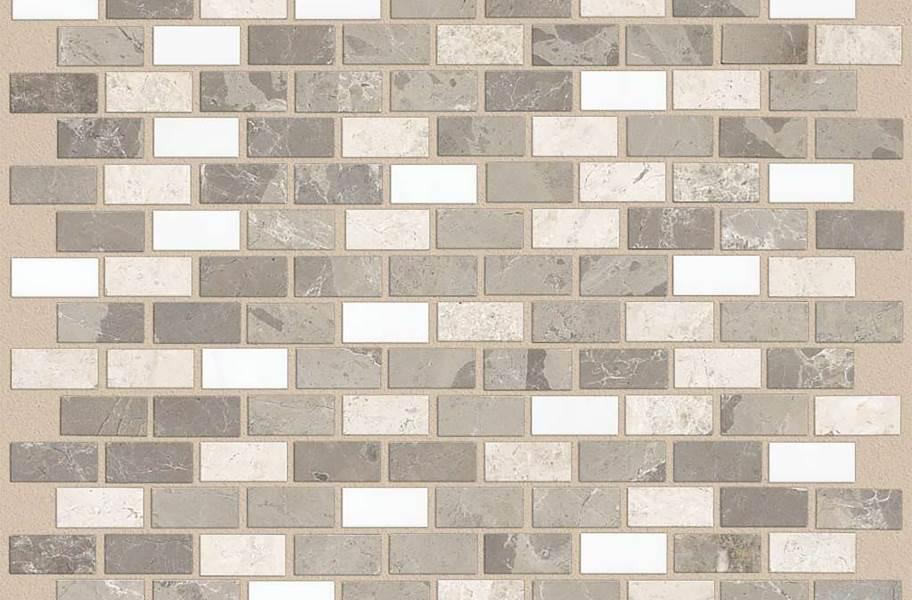 Shaw Boca Natural Stone Mosaic - Brick - Breakwater