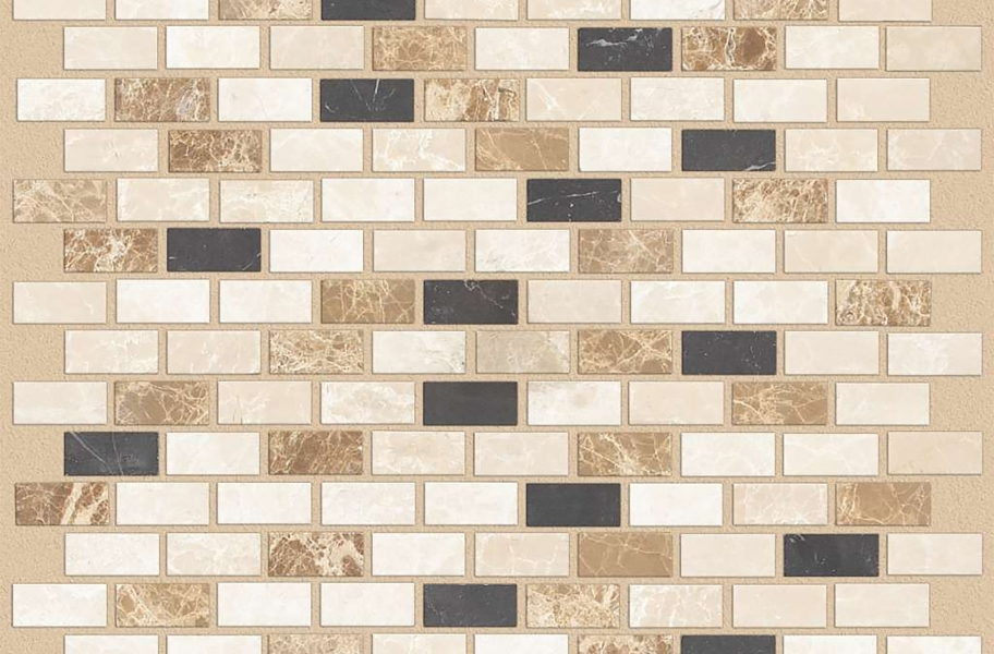Shaw Boca Natural Stone Mosaic - Brick - Compass