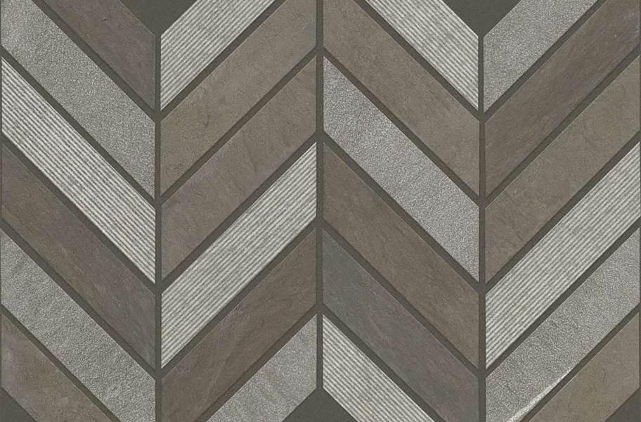 Shaw Boca Natural Stone Mosaic - Chevron - Foussana Gray