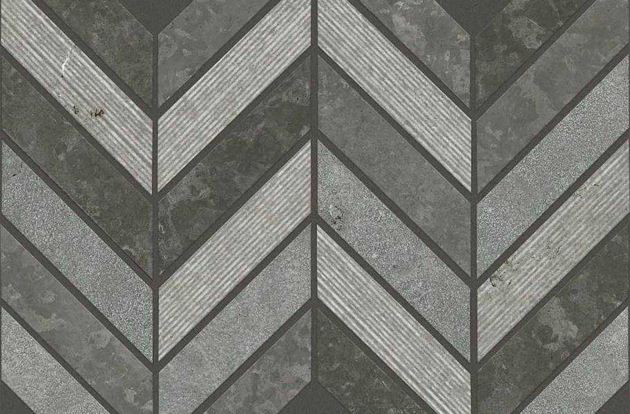 Shaw Boca Natural Stone Mosaic - Chevron - Milly Gray