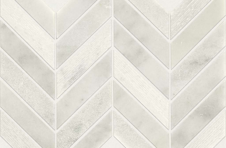 Shaw Boca Natural Stone Mosaic - Chevron - Whitewater