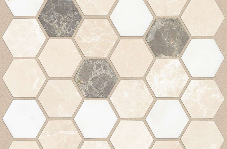 Shaw Boca Natural Stone Mosaic - Hexagon - Ballast