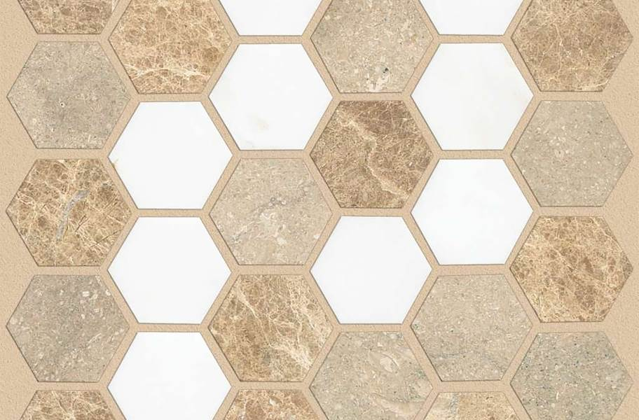 Shaw Boca Natural Stone Mosaic - Hexagon - Golden Isle