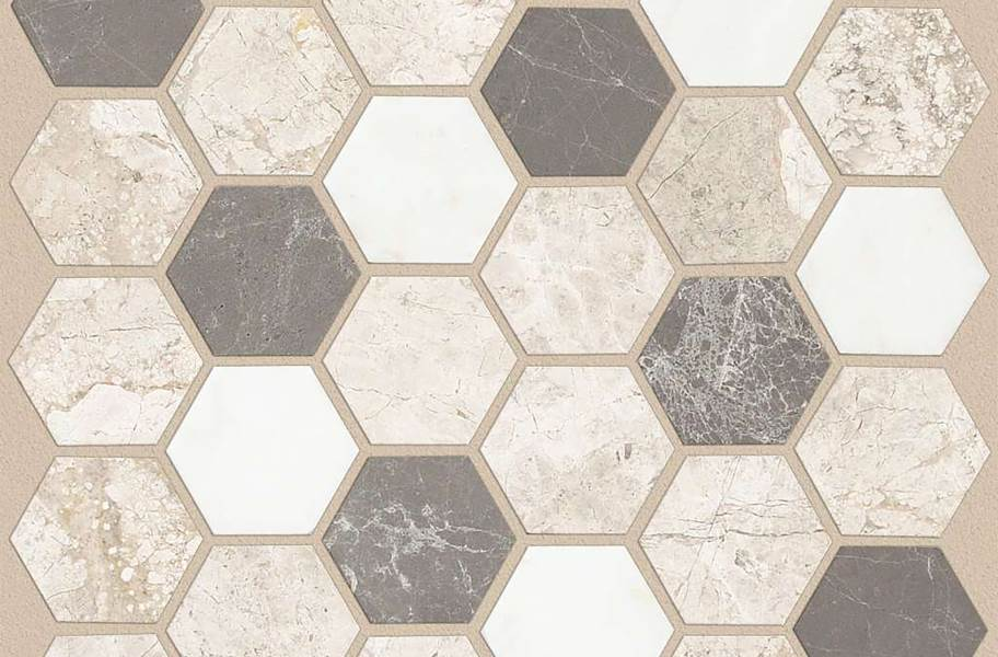 Shaw Boca Natural Stone Mosaic - Hexagon - Seamist