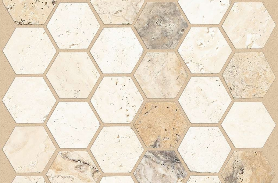 Shaw Boca Natural Stone Mosaic - Hexagon - Seaside