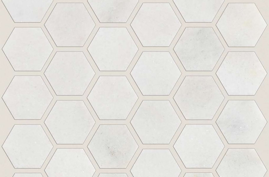 Shaw Boca Natural Stone Mosaic - Hexagon - Pearl Polished
