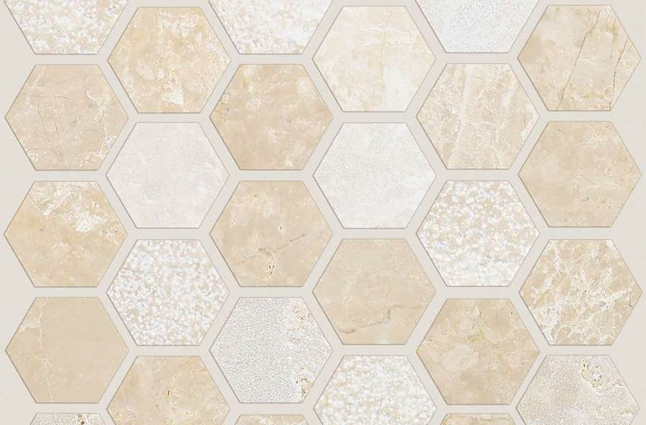 Shaw Boca Natural Stone Mosaic - Hexagon - Coastal