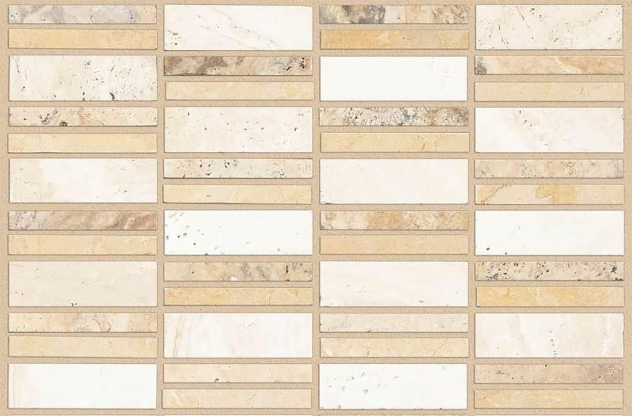 Shaw Boca Natural Stone Mosaic - Linear - Castaway