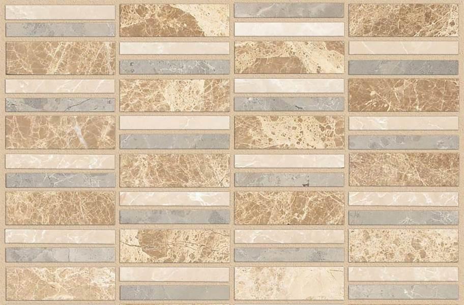 Shaw Boca Natural Stone Mosaic - Linear - Silver Sand