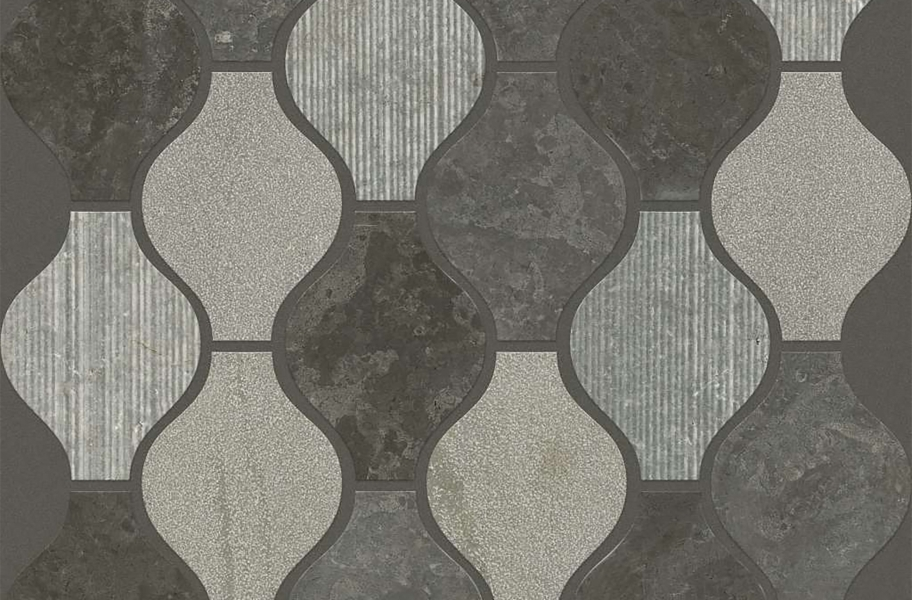 Shaw Boca Natural Stone Mosaic - Ornament - Milly Gray