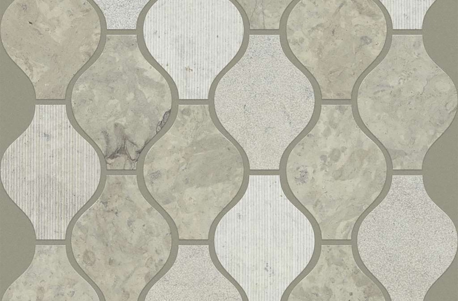 Shaw Boca Natural Stone Mosaic - Ornament - Thala Gray