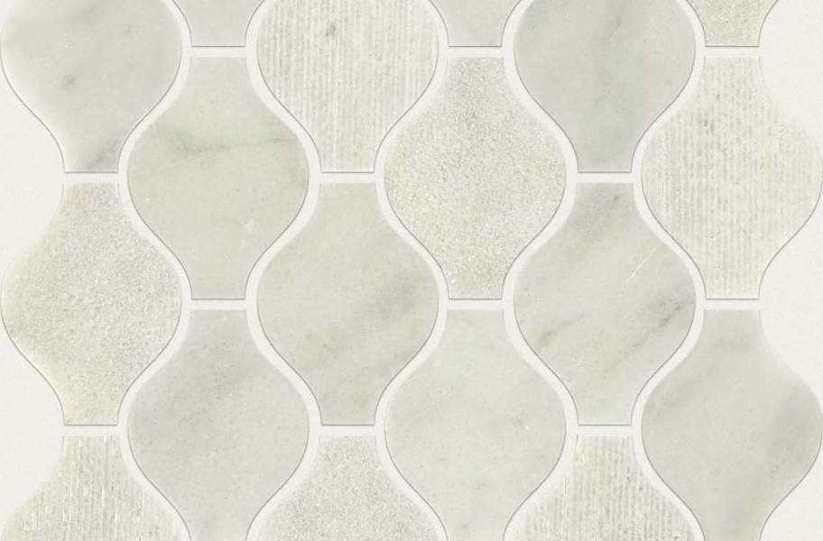 Shaw Boca Natural Stone Mosaic - Ornament - Whitewater