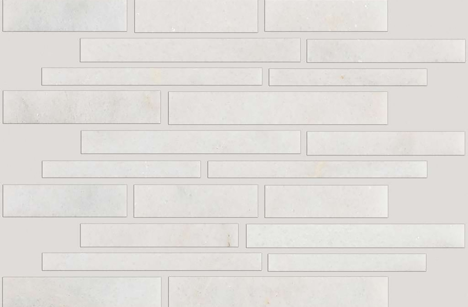 Shaw Boca Natural Stone Mosaic - Random Linear - Pearl