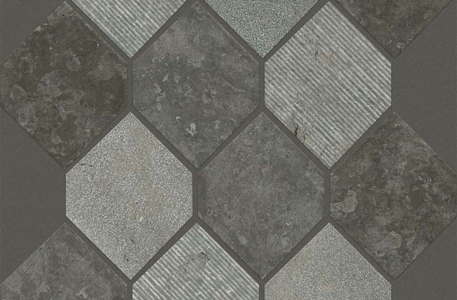 Shaw Boca Natural Stone Mosaic - Stretch Hex - Milly Gray