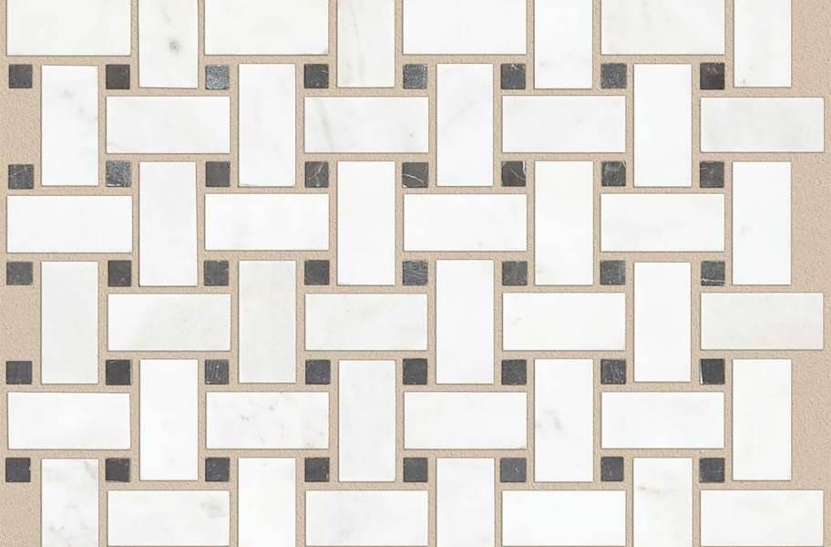 Shaw Boca Natural Stone Mosaic - Basketweave - Admiral