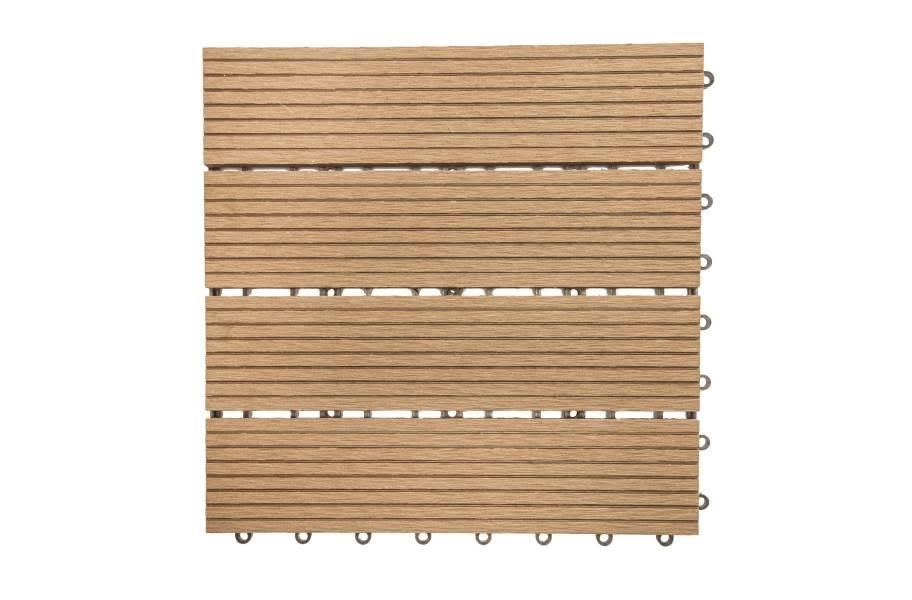 Naturesort Classic Deck Tiles (4 Slat) - Clearance - Brown