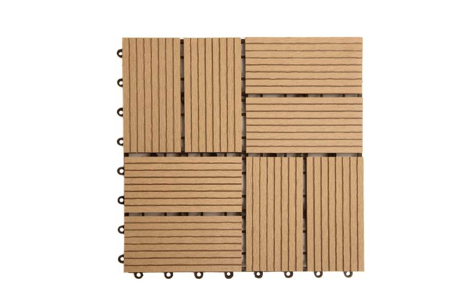 Naturesort Classic Deck Tiles (8 Slat) - Clearance - Brown