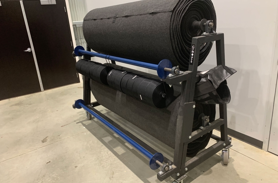 Gym Floor Cover Roll Seam Tape Storage