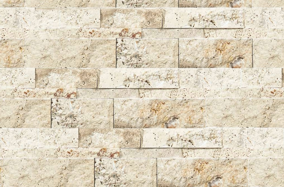 Shaw Ledgerstone Tile - Firestone Split Face Siena Avorio