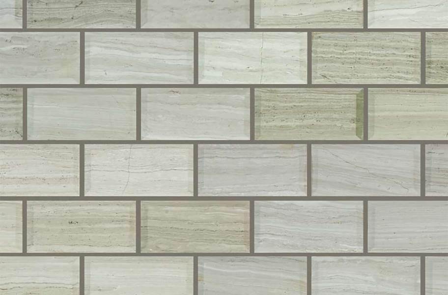 Shaw Chateau Natural Stone Subway Tile - Bevel Rockwood