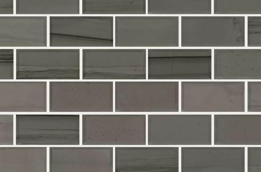 Shaw Chateau Natural Stone Subway Tile - Bevel Urban Grey
