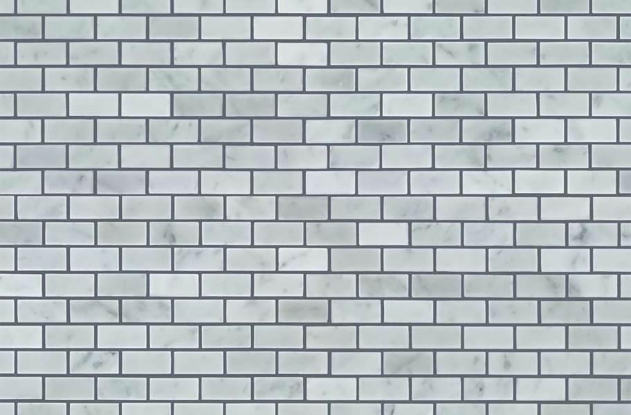 Shaw Chateau Natural Stone Subway Tile - Mini Brick Bianco Carrara