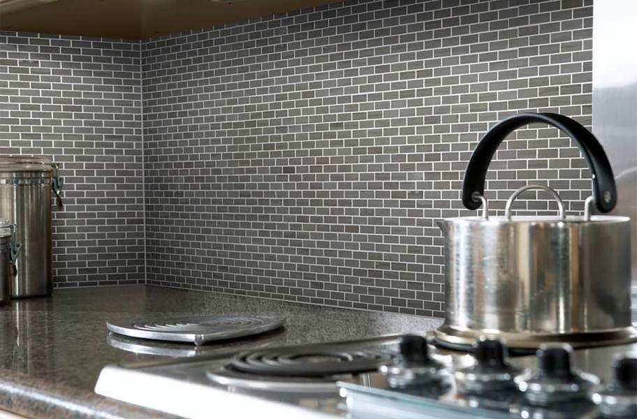 Shaw Chateau Natural Stone Subway Tile - Mini Brick Urban Grey