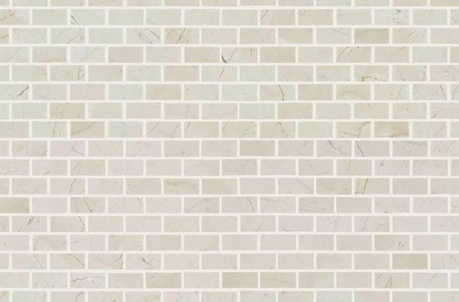 Shaw Chateau Natural Stone Subway Tile - Mini Brick Crema Marfil