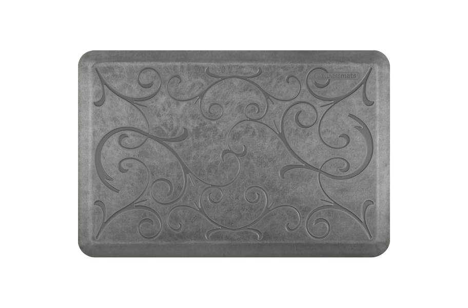 WellnessMats Designer Motif Bella Collection  - Silver Leaf