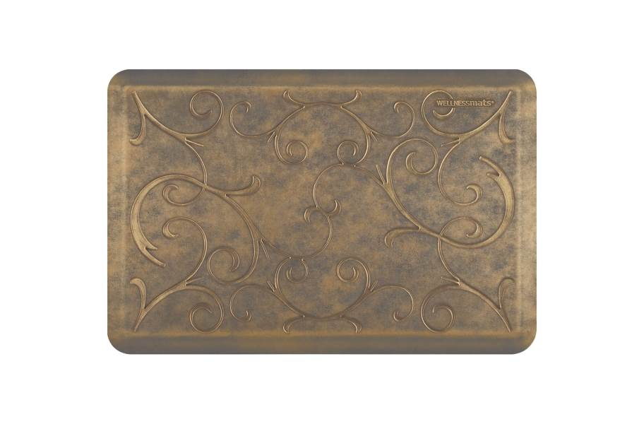 WellnessMats Designer Motif Bella Collection  - Antique Gold