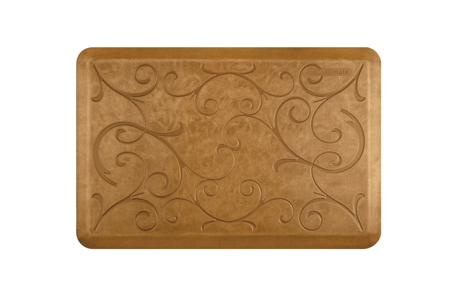 WellnessMats Designer Motif Bella Collection  - Copper Leaf