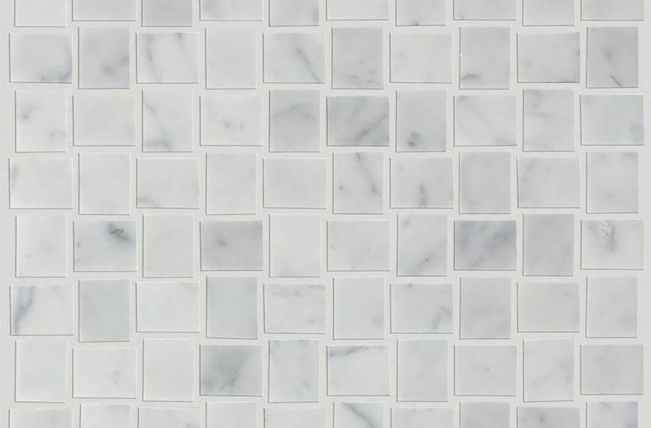 Shaw Chateau Natural Stone Woven Tile - Basketweave Bianco Carrara