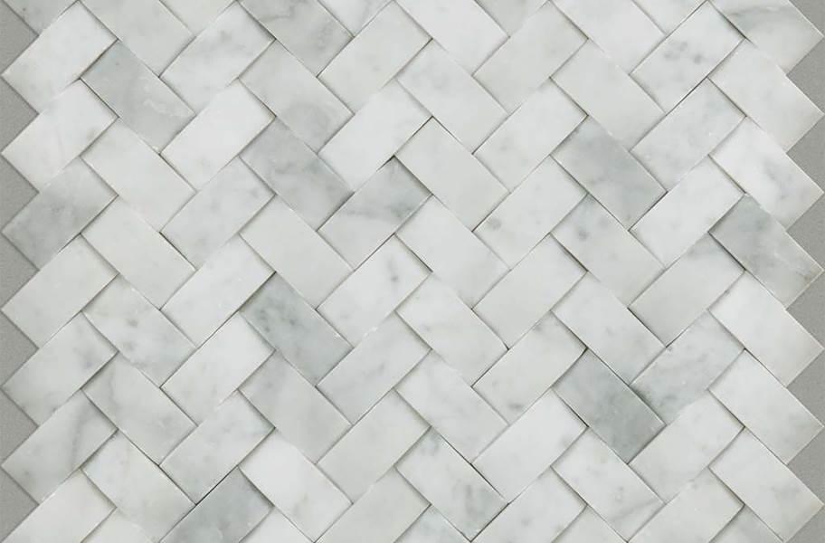 Shaw Chateau Natural Stone Woven Tile - Woven Bianco Carrara