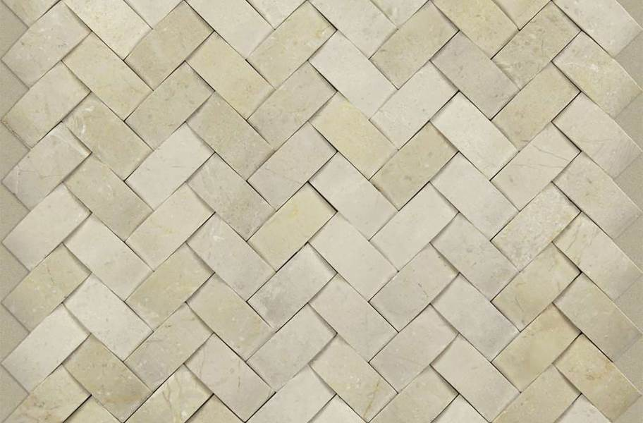 Shaw Chateau Natural Stone Woven Tile - Woven Crema Marfil