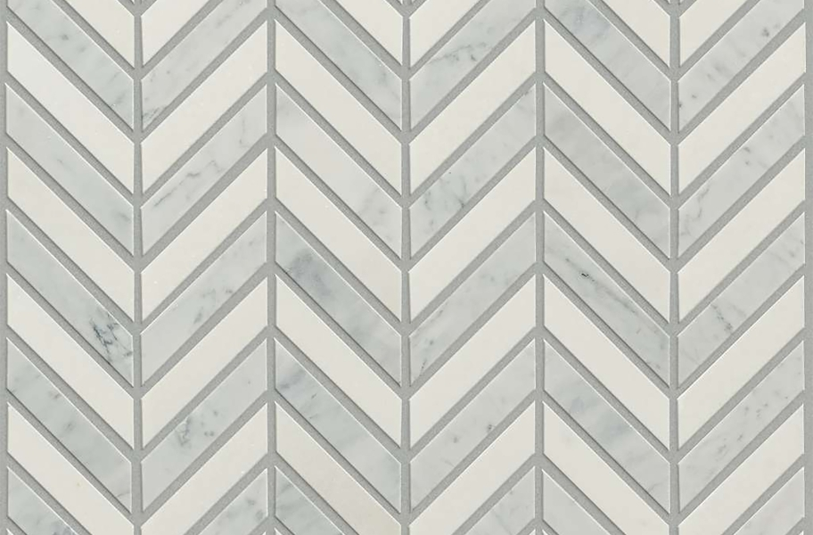 Shaw Chateau Chevron Natural Stone Tile - Rockwood Urban Grey