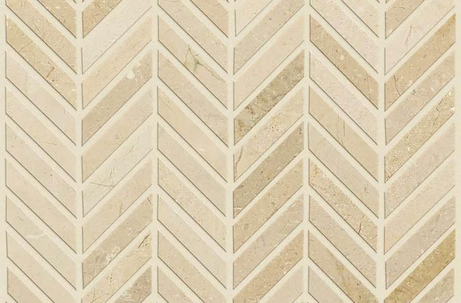 Shaw Chateau Chevron Natural Stone Tile - Crema Marfil