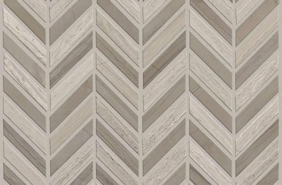 Shaw Chateau Chevron Natural Stone Tile - Rockwood Urban Grey