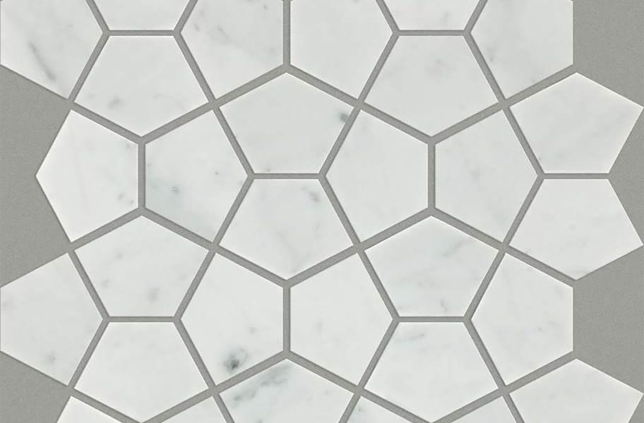 Shaw Chateau Geometrics Natural Stone Tile - Pentagon Bianco Carrara