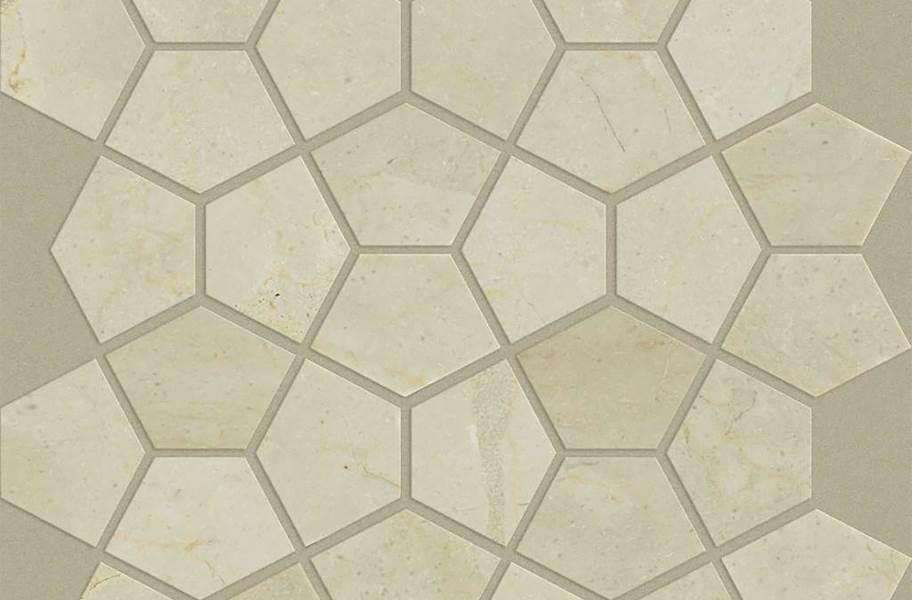 Shaw Chateau Geometrics Natural Stone Tile - Pentagon Crema Marfil