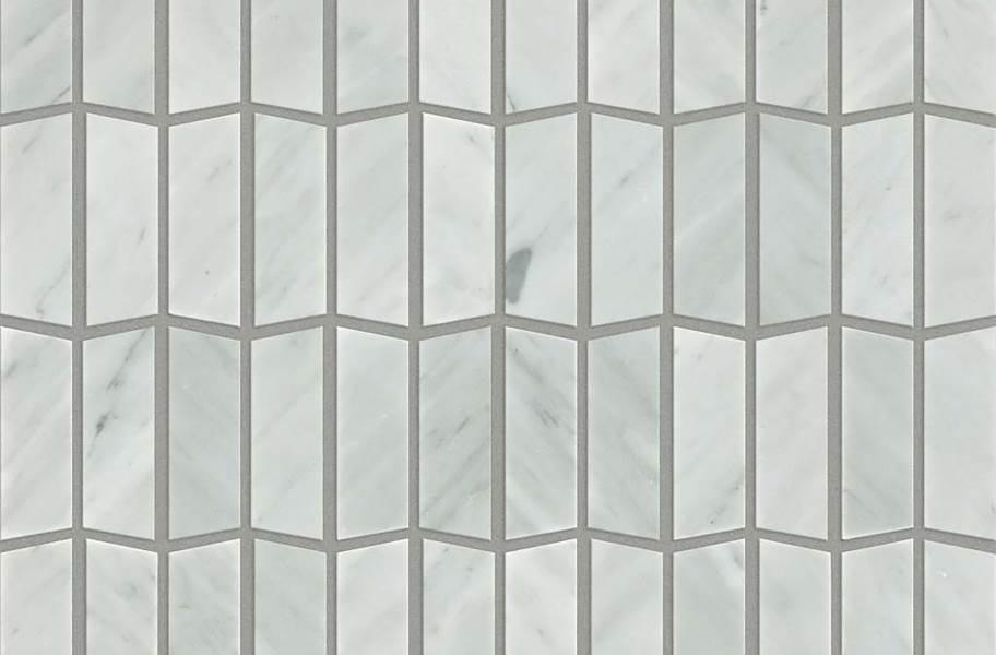 Shaw Chateau Geometrics Natural Stone Tile - Trapezoid Bianco Carrara