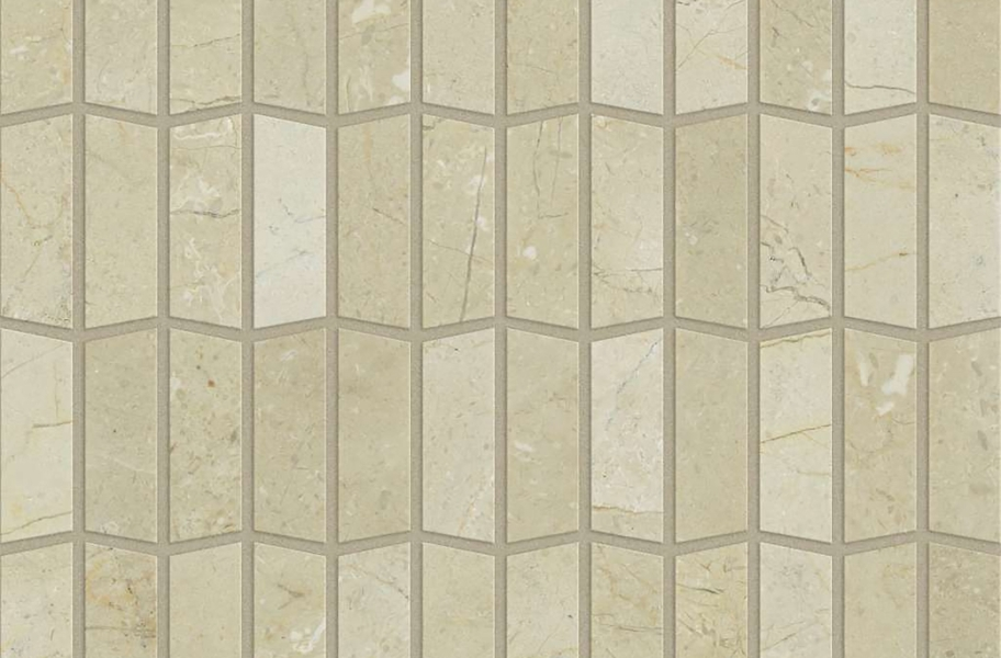 Shaw Chateau Geometrics Natural Stone Tile - Trapezoid Crema Marfil