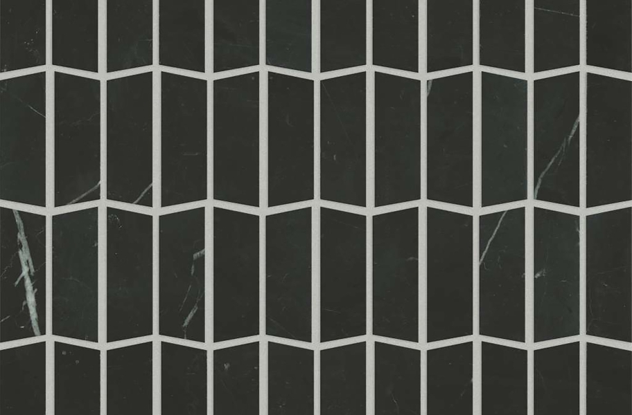 Shaw Chateau Geometrics Natural Stone Tile - Trapezoid Nero Marquina