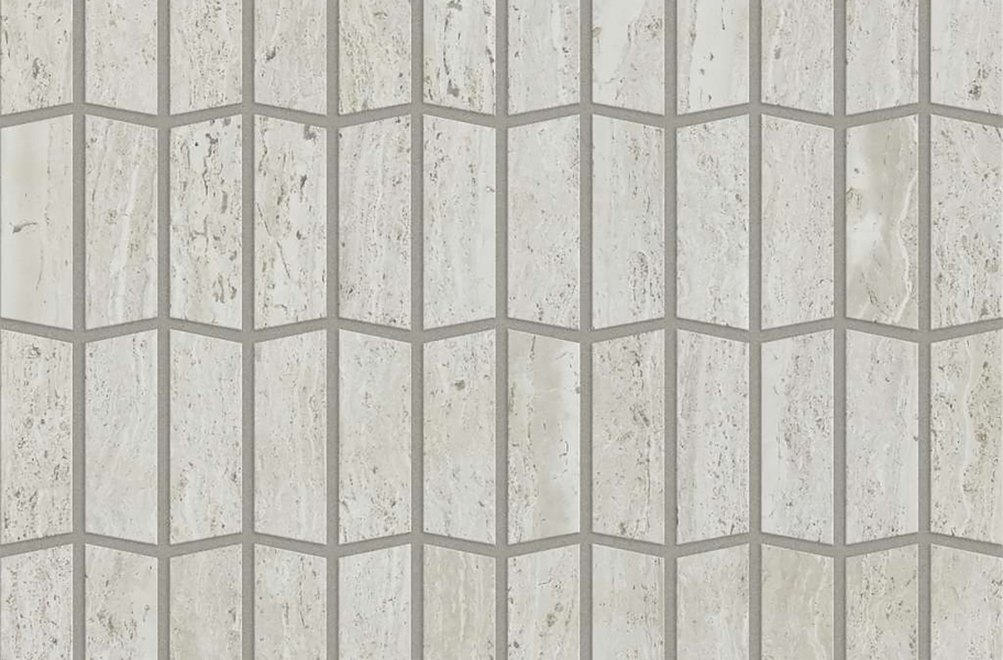 Shaw Chateau Geometrics Natural Stone Tile - Trapezoid Rockwood