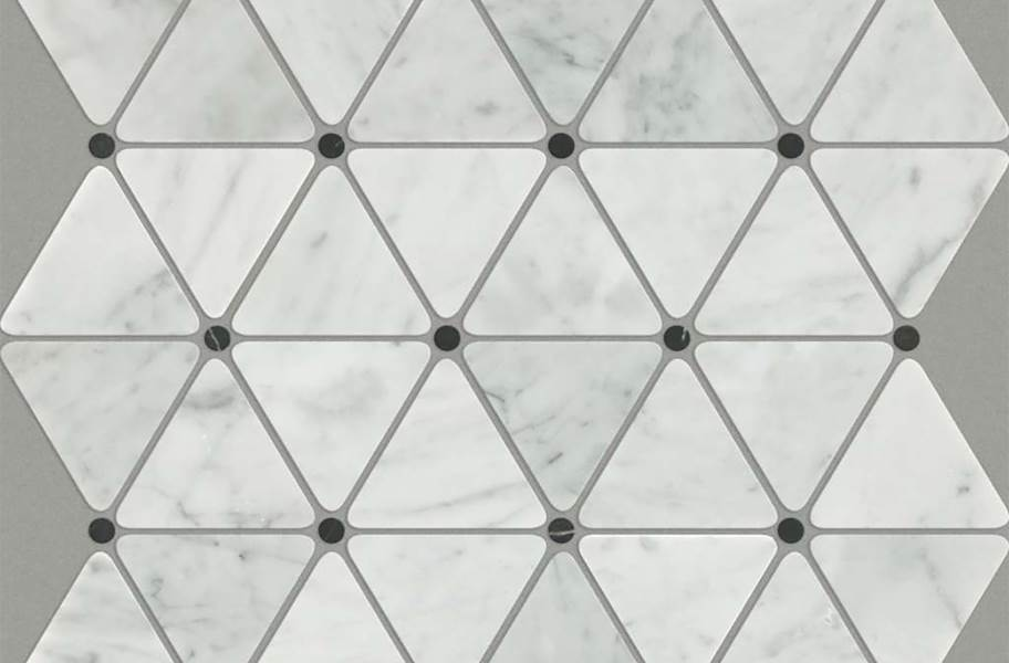 Shaw Chateau Geometrics Natural Stone Tile - Triangle Dot Bianco Carrara