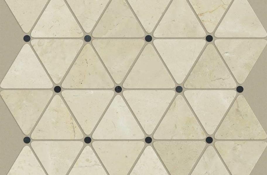 Shaw Chateau Geometrics Natural Stone Tile - Triangle Dot Crema Marfil