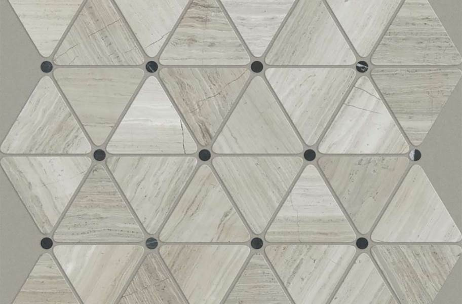 Shaw Chateau Geometrics Natural Stone Tile - Triangle Dot Rockwood