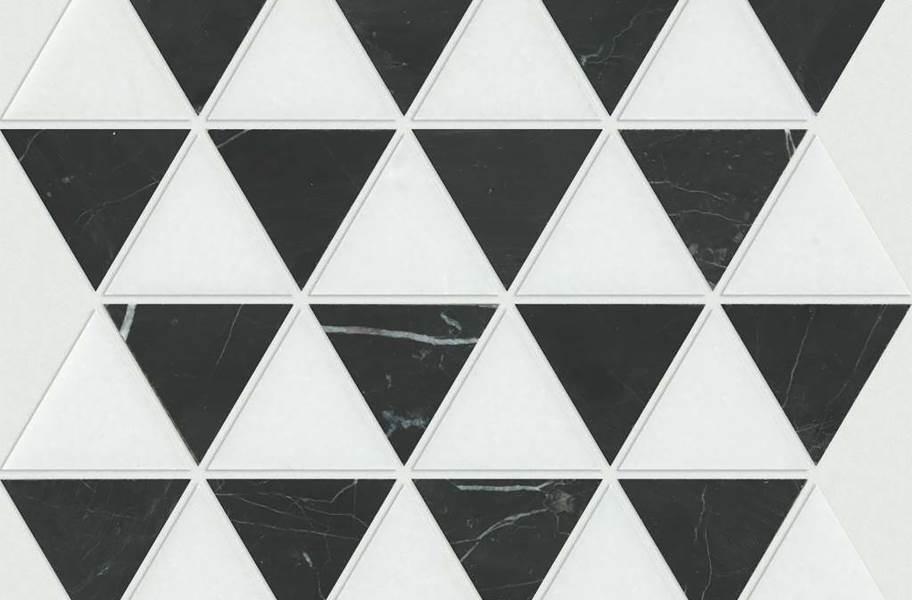Shaw Chateau Geometrics Natural Stone Tile - Triangle Mix Nero Marquina Thassos
