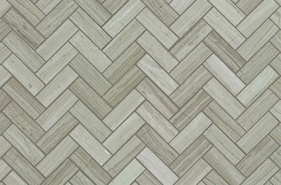 Shaw Chateau Geometrics Natural Stone Tile - Herringbone Rockwood