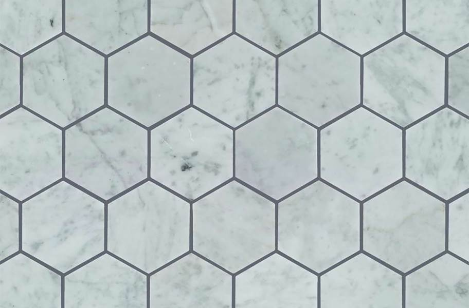 Shaw Chateau Geometrics Natural Stone Tile - Hexagon Bianco Carrara
